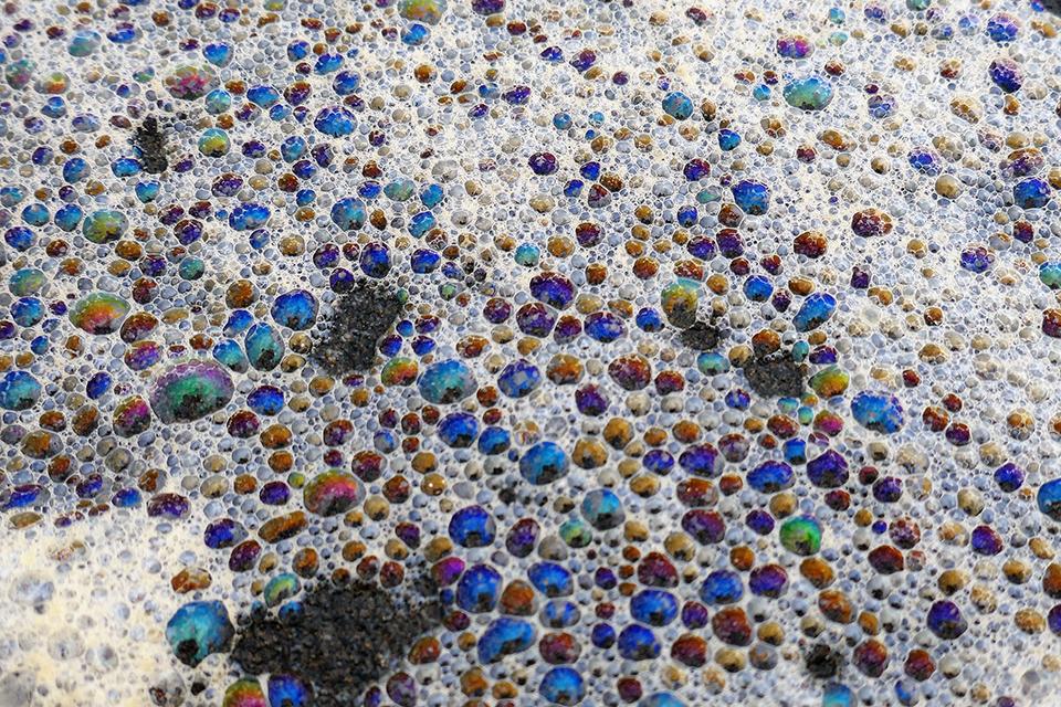 Bubbles in the foam, Karekare Beach, Karekare